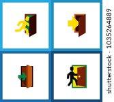 icon flat door set of... | Shutterstock .eps vector #1035264889