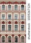 the facade of a historic... | Shutterstock . vector #1035267124