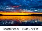 sunset river panoramic landscape | Shutterstock . vector #1035270145