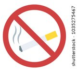 smoking restricted sign flat... | Shutterstock .eps vector #1035275467
