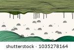 spring scenery landscape line... | Shutterstock .eps vector #1035278164