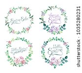 watercolor hand drawn floral... | Shutterstock . vector #1035280231