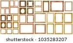 set of golden vintage frame...   Shutterstock . vector #1035283207