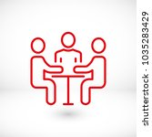 a group of business people ... | Shutterstock .eps vector #1035283429