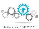gear wheels with symbolizing... | Shutterstock .eps vector #1035290161