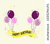 holiday with balloons greeting... | Shutterstock .eps vector #1035296191
