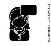female user comment | Shutterstock .eps vector #1035297601