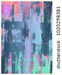 glitch abstract background.... | Shutterstock .eps vector #1035298381