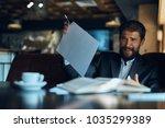 man  business  emotions  bad... | Shutterstock . vector #1035299389