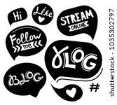 vector black speech bubbles... | Shutterstock .eps vector #1035302797
