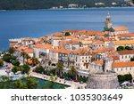 seaside  view of korcula town ...   Shutterstock . vector #1035303649