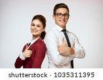 woman  man  business  good job  ...   Shutterstock . vector #1035311395