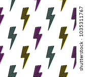 bright lightning bolt seamless... | Shutterstock .eps vector #1035311767