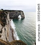 Small photo of Etretat in Normandy in north-western France.