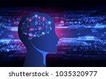 artificial intelligence ... | Shutterstock .eps vector #1035320977