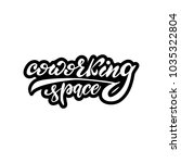 coworking space lettering... | Shutterstock .eps vector #1035322804