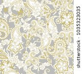 seamless pattern with paisley | Shutterstock .eps vector #1035323035