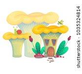 vector illustration mushroom... | Shutterstock .eps vector #1035324814