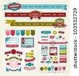 website design elements   Shutterstock .eps vector #103532729