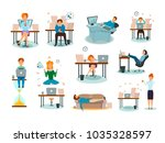 procrastination characters... | Shutterstock .eps vector #1035328597