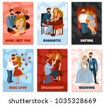 developing love relations set... | Shutterstock .eps vector #1035328669