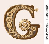 mechanical alphabet made from... | Shutterstock .eps vector #103533005