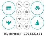 set of 12 training icons set.... | Shutterstock .eps vector #1035331681