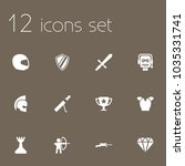set of 12 game icons set.... | Shutterstock .eps vector #1035331741