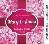 wedding card or invitation with ... | Shutterstock .eps vector #103533185