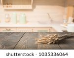 Blurred And Abstract Kitchen...
