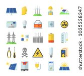 Solar Energy Equipment Icons...