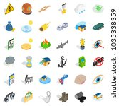 destroy nature icons set.... | Shutterstock .eps vector #1035338359