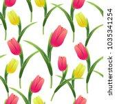 beautiful spring seamless... | Shutterstock .eps vector #1035341254