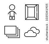 icons camera with picture frame ... | Shutterstock .eps vector #1035341905