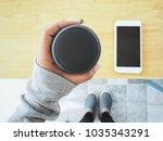 bluetooth speaker with smart... | Shutterstock . vector #1035343291