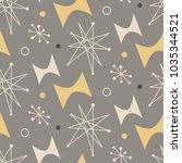 mid century modern seamless... | Shutterstock .eps vector #1035344521