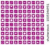 100 kettlebell icons set in... | Shutterstock .eps vector #1035346951