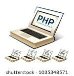 programming language concept  ... | Shutterstock .eps vector #1035348571
