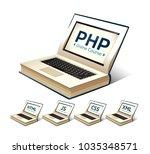 programming language concept  ... | Shutterstock .eps vector #1035348571