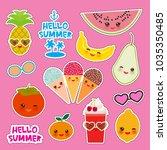 hello summer bright tropical... | Shutterstock .eps vector #1035350485