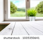white table background of free... | Shutterstock . vector #1035350641