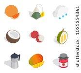 evening tea icons set....   Shutterstock .eps vector #1035354361