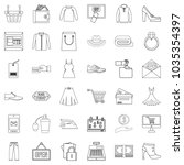 online wholesale trade icons...   Shutterstock .eps vector #1035354397
