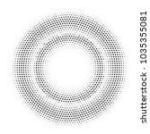 Halftone Double Circle Frame....