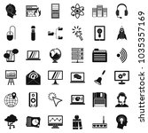 online seminar icons set.... | Shutterstock .eps vector #1035357169