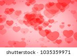 red and pink heart. valentine's ... | Shutterstock . vector #1035359971