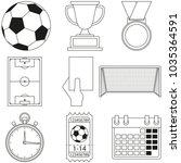 soccer football game line art...   Shutterstock .eps vector #1035364591