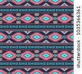 southwestern ethnic navajo... | Shutterstock . vector #1035366361