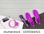 sport and fitness accessories ...   Shutterstock . vector #1035366421