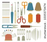 collection sets of sewing... | Shutterstock .eps vector #1035373474